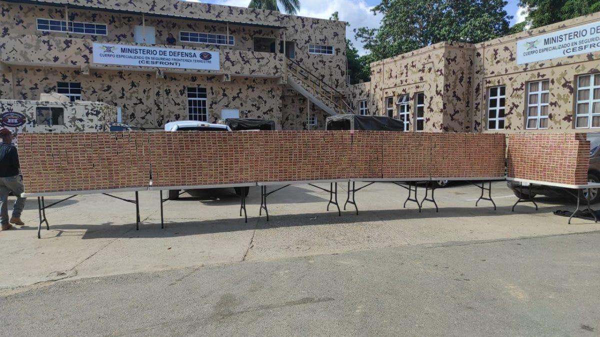 Video: Decomisan 471, 400 cigarrillos en Dajabón