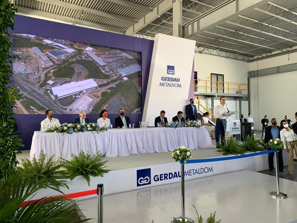 Gerdau Metaldom inaugura nave industrial con la presencia del presidente Luis Abinader