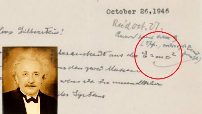 Subastan documento manuscrito de Einstein sobre la teoría de la relatividad