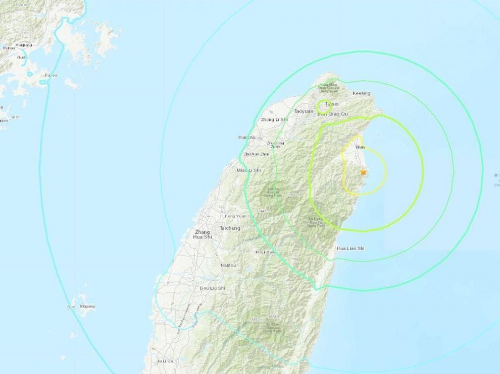Un terremoto de magnitud 6,5 sacude el noreste de Taiwán