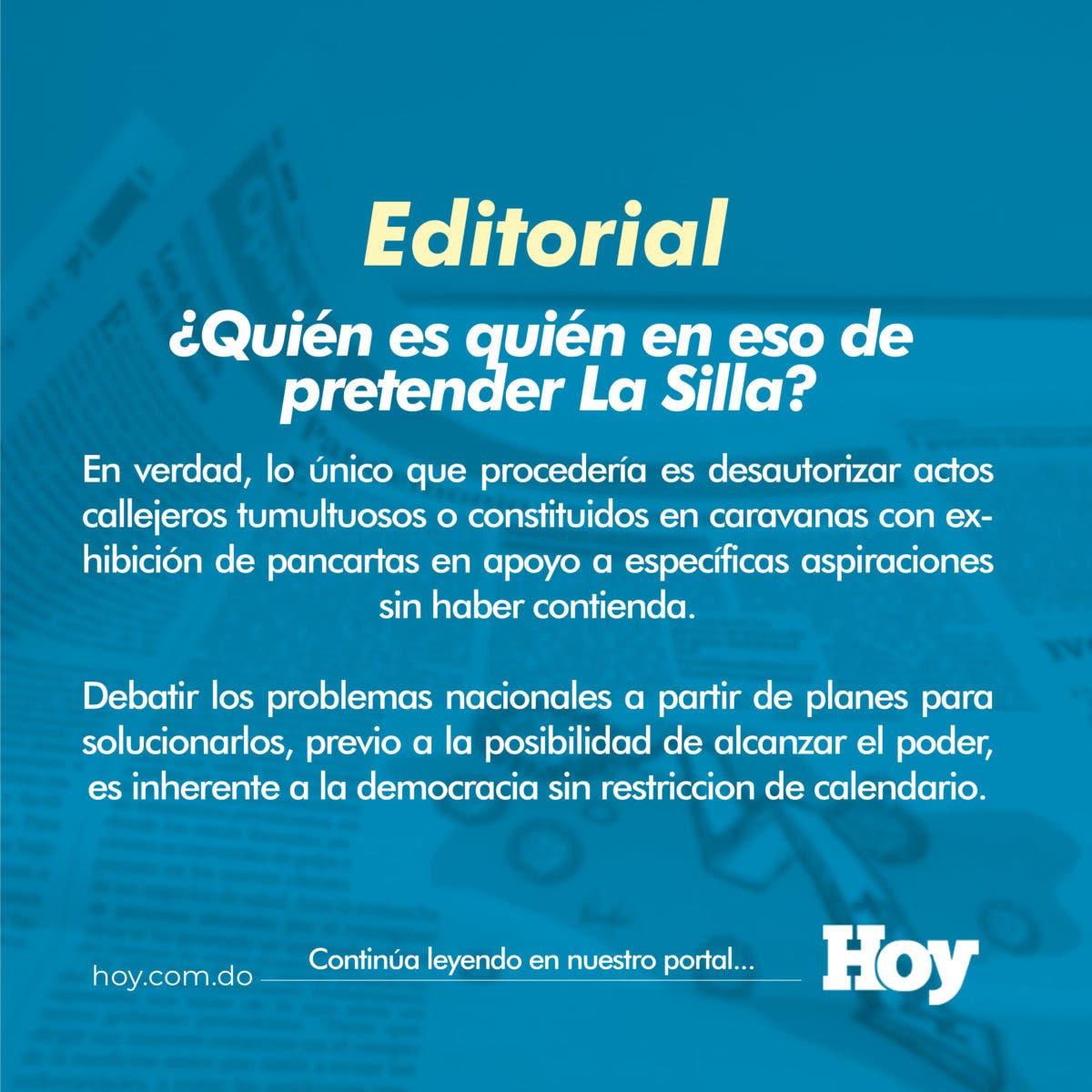 ¿Quién es quién en eso de pretender La Silla?