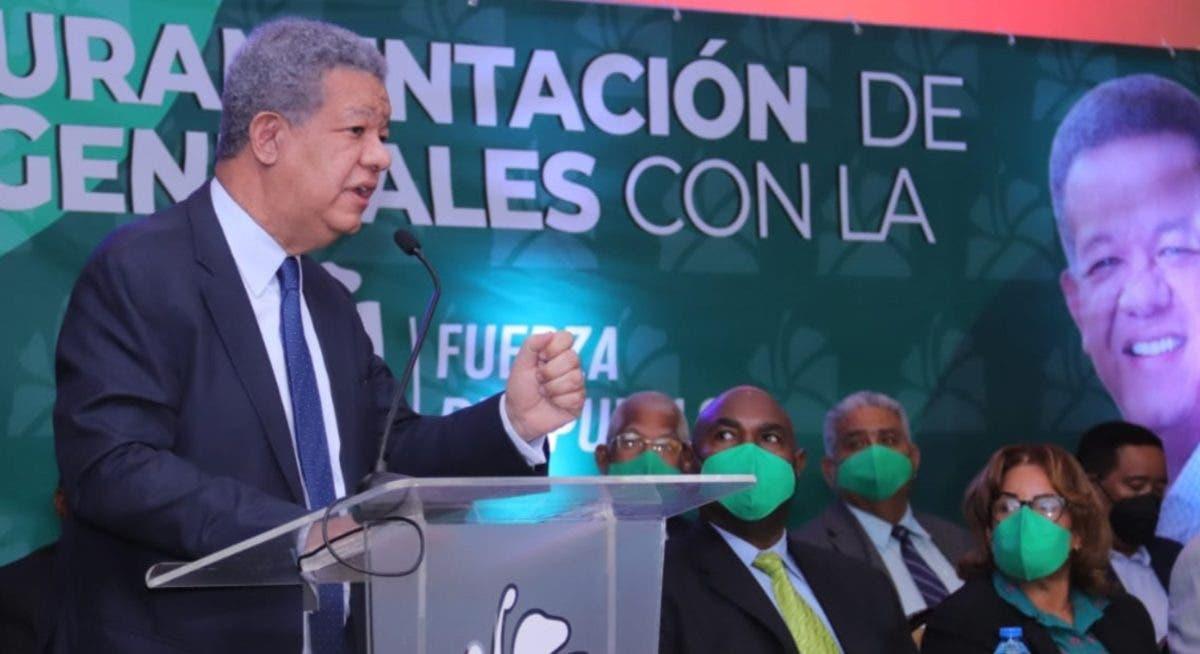 Leonel dice hay que trabajar para que no se tenga miedo a la Policía