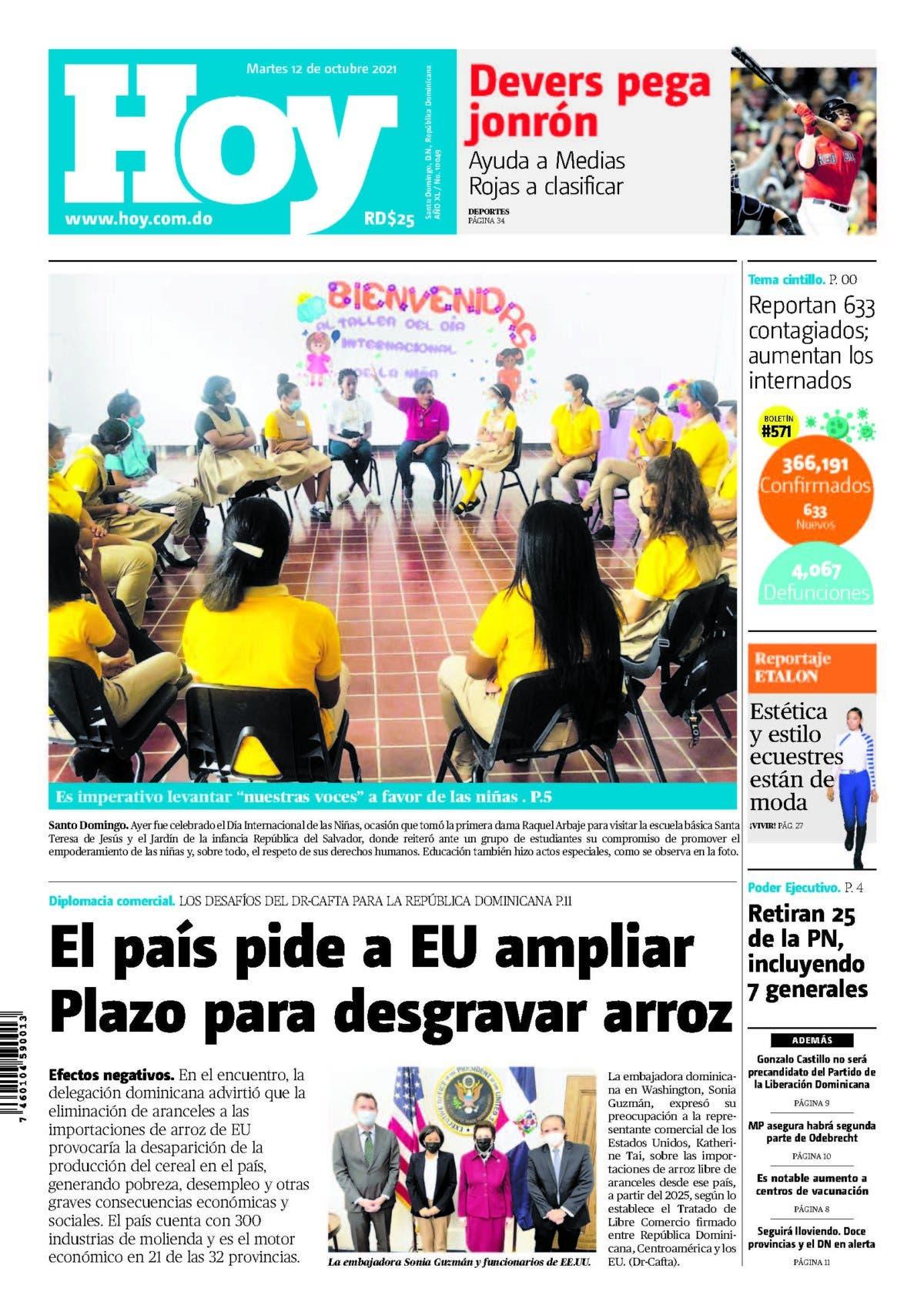 Edición impresa HOY martes 12 de octubre del 2021