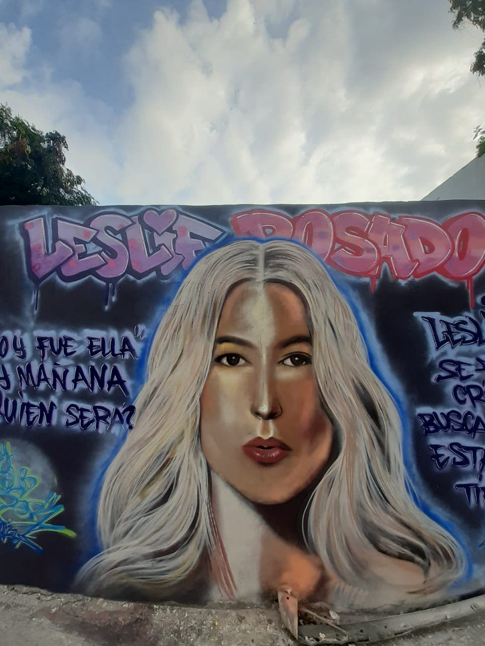 Pintan mural para conmemorar a Leslie Rosado