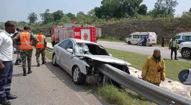Una persona fallecida tras accidente de tránsito en autopista del Coral en La Romana