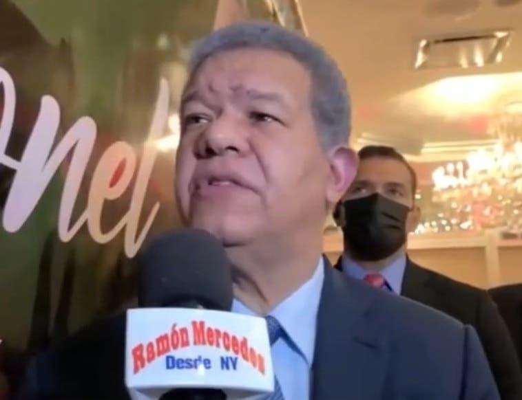 """Leonel Fernández dice en NY """"dominicanos lo que quieren es facilidad en aduanas"""""""