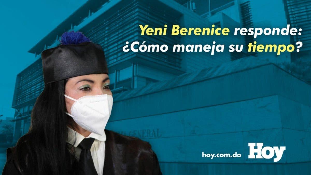 ¿Cómo le alcanza el tiempo a Yeni Berenice?  La magistrada responde