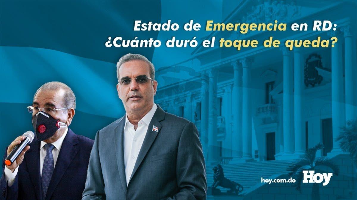 Estado de Emergencia en RD: ¿Cuánto duró el Toque de Queda?