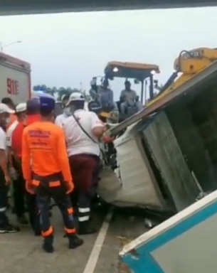 Reportan accidente de tránsito en la Autovía del Coral
