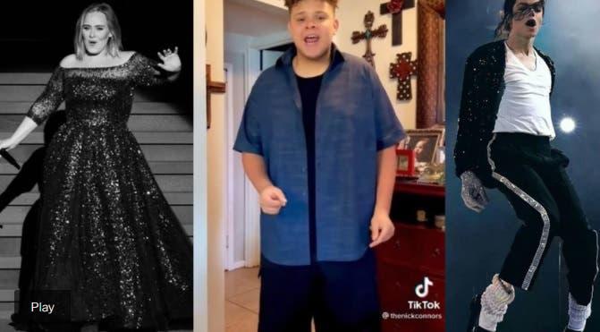Quién es Nick Connors, el personaje de TikTok que se viralizó al cantar como Adele y Michael Jackson