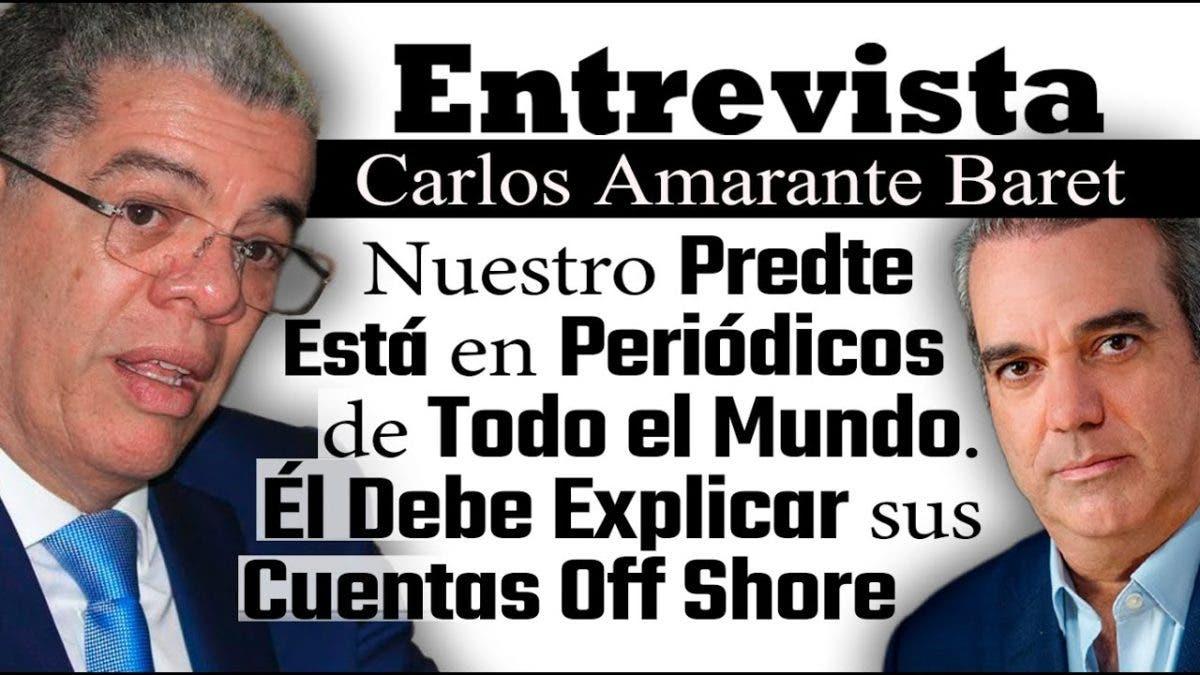 Entrevista a Carlos Amarante Baret, miércoles 6 de octubre, programa Telematutino 11
