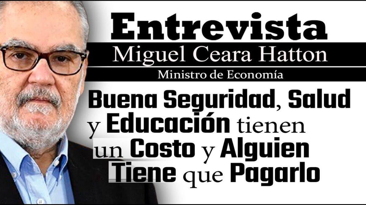 Entrevista a Miguel Ceara Hatton, jueves 7 de octubre, programa Telematutino 11
