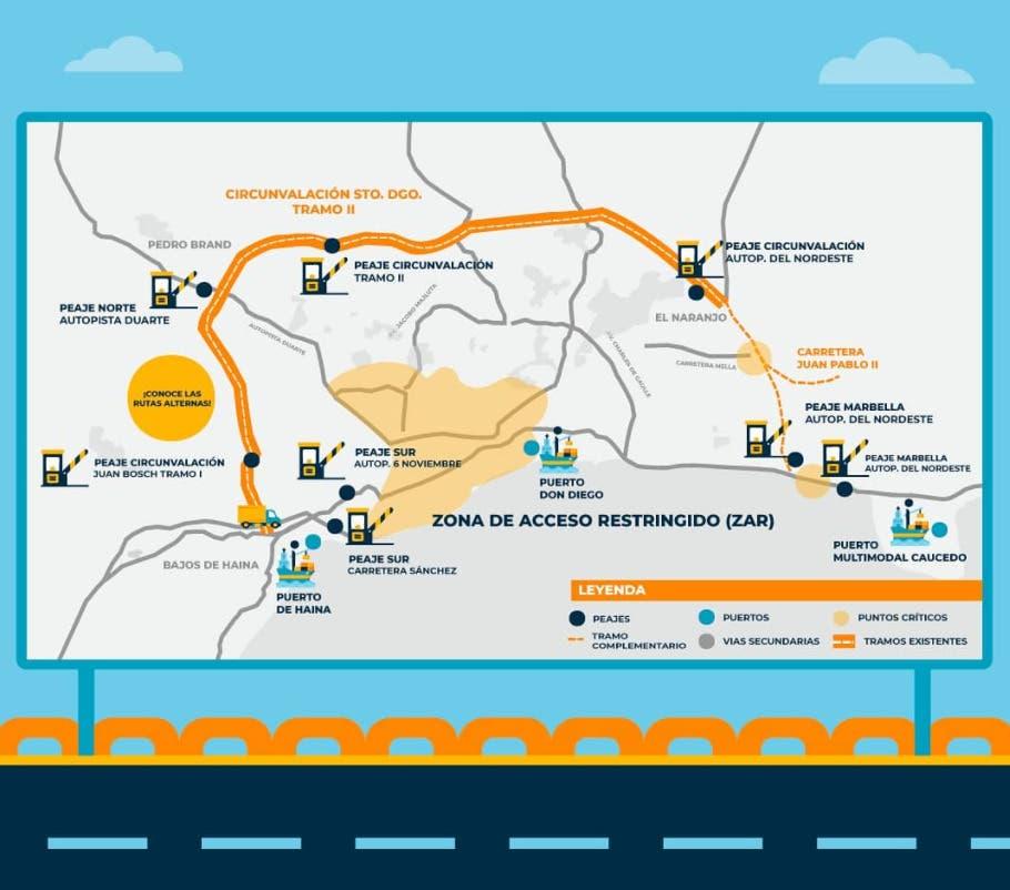 Conozca las rutas alternas para transitar en vehículos de carga desde el domingo